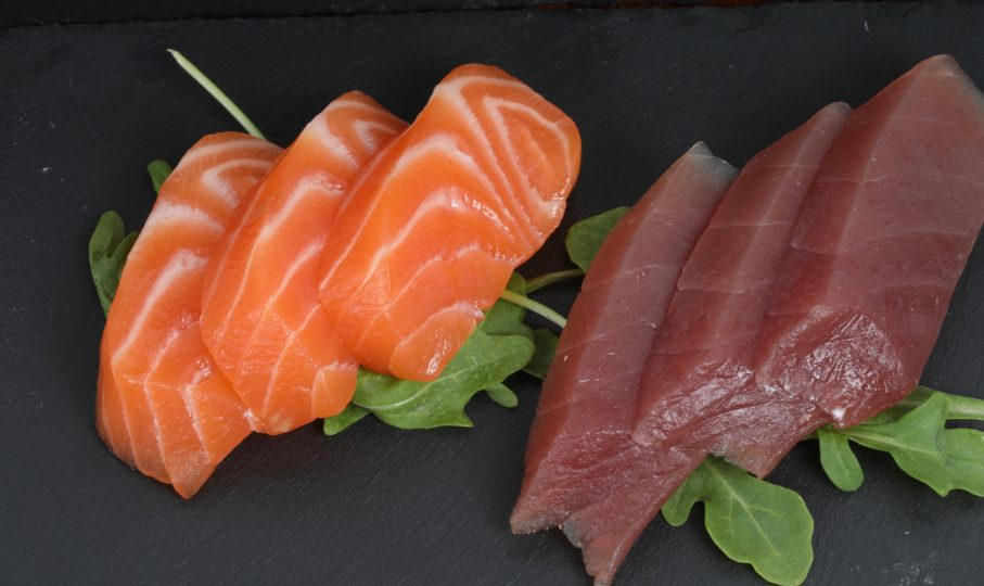 Sashimi mix thom saumon