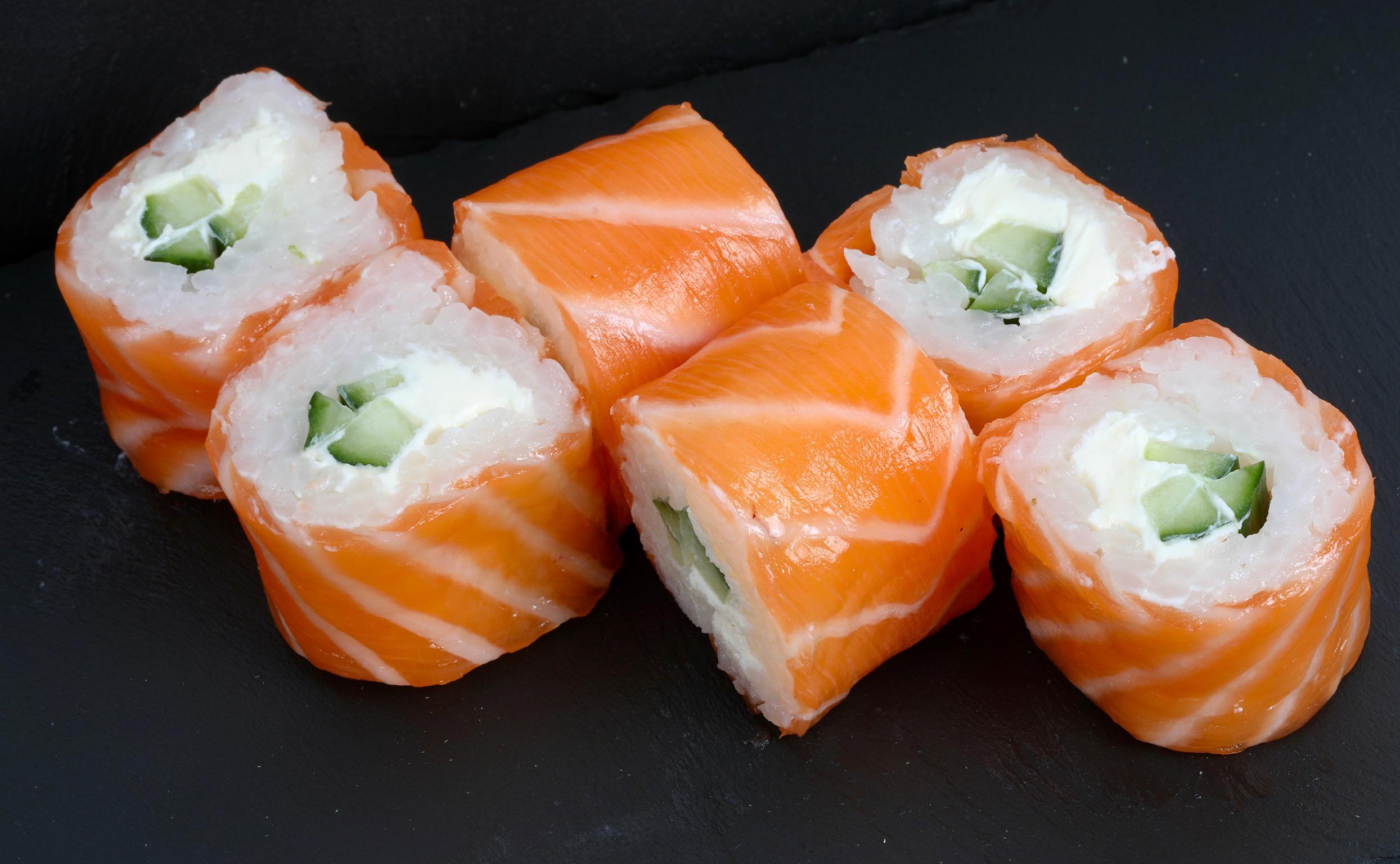 saumon roll concombre cheese